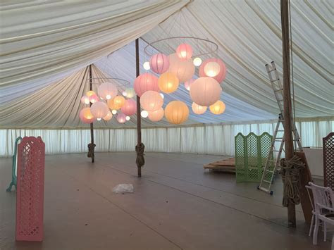 Paper lantern chandeliers   Wedding Decor Ideas
