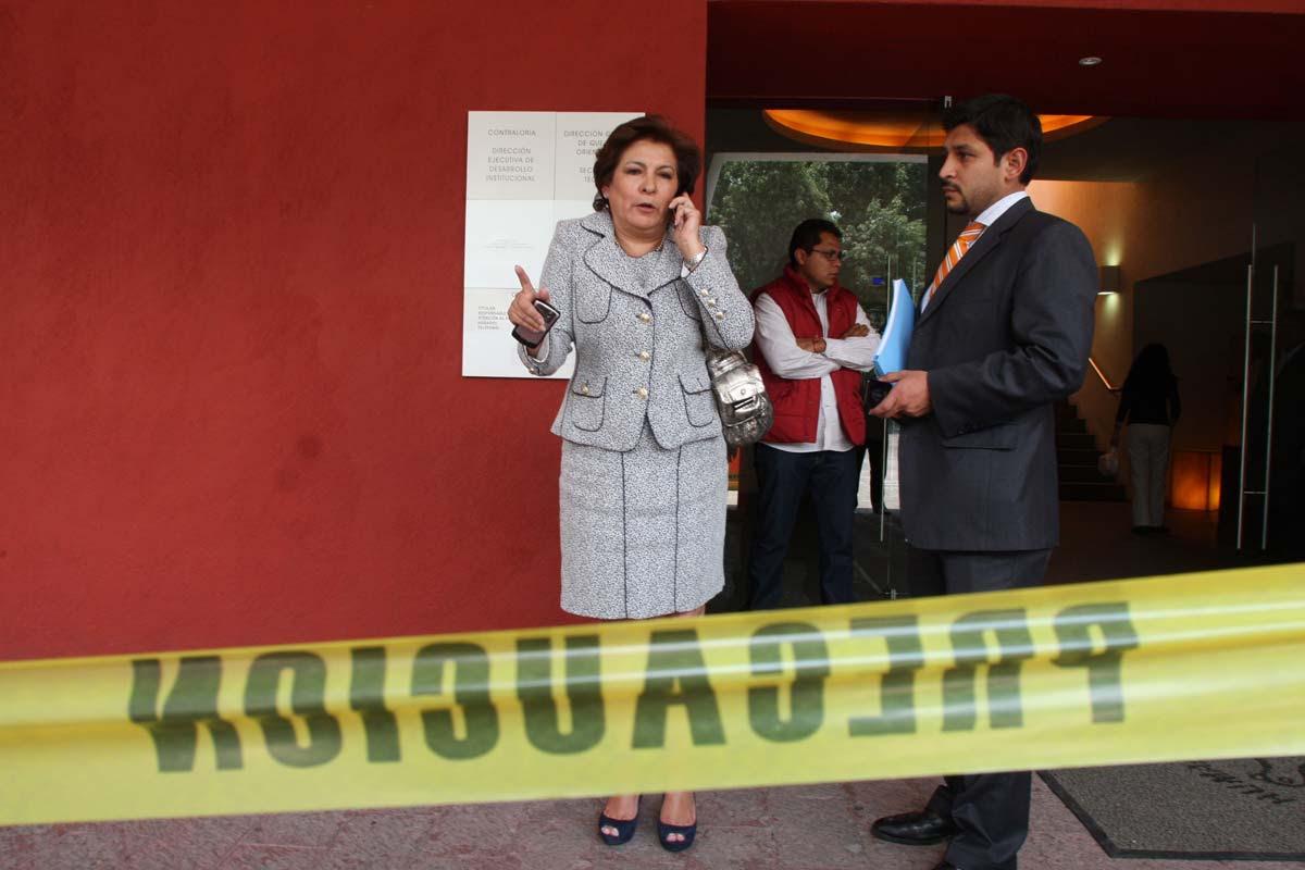 Isabel Miranda de Wallace en la CDHDF. Foto: Hugo Cruz
