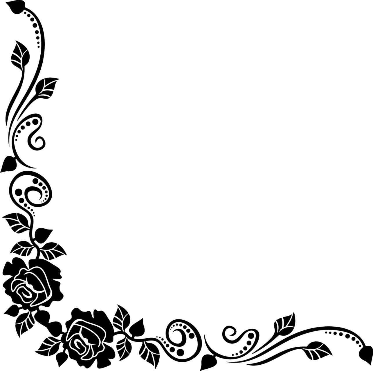 Border Designs In Black And White Elitamydearestco