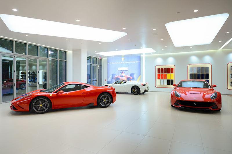A New Ferrari Dealership Moves in Under a Woodlands Parking Garage | Swamplot