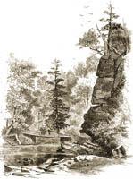 Church's Ledge and bridge, Kaaterskill Clove