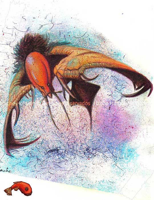 Ilustración fantástica por Hache Holguín