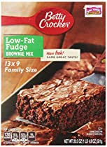 Betty Crocker Low Fat Fudge Brownie Mix, 20.5-Ounce Boxes (Pack of 12)