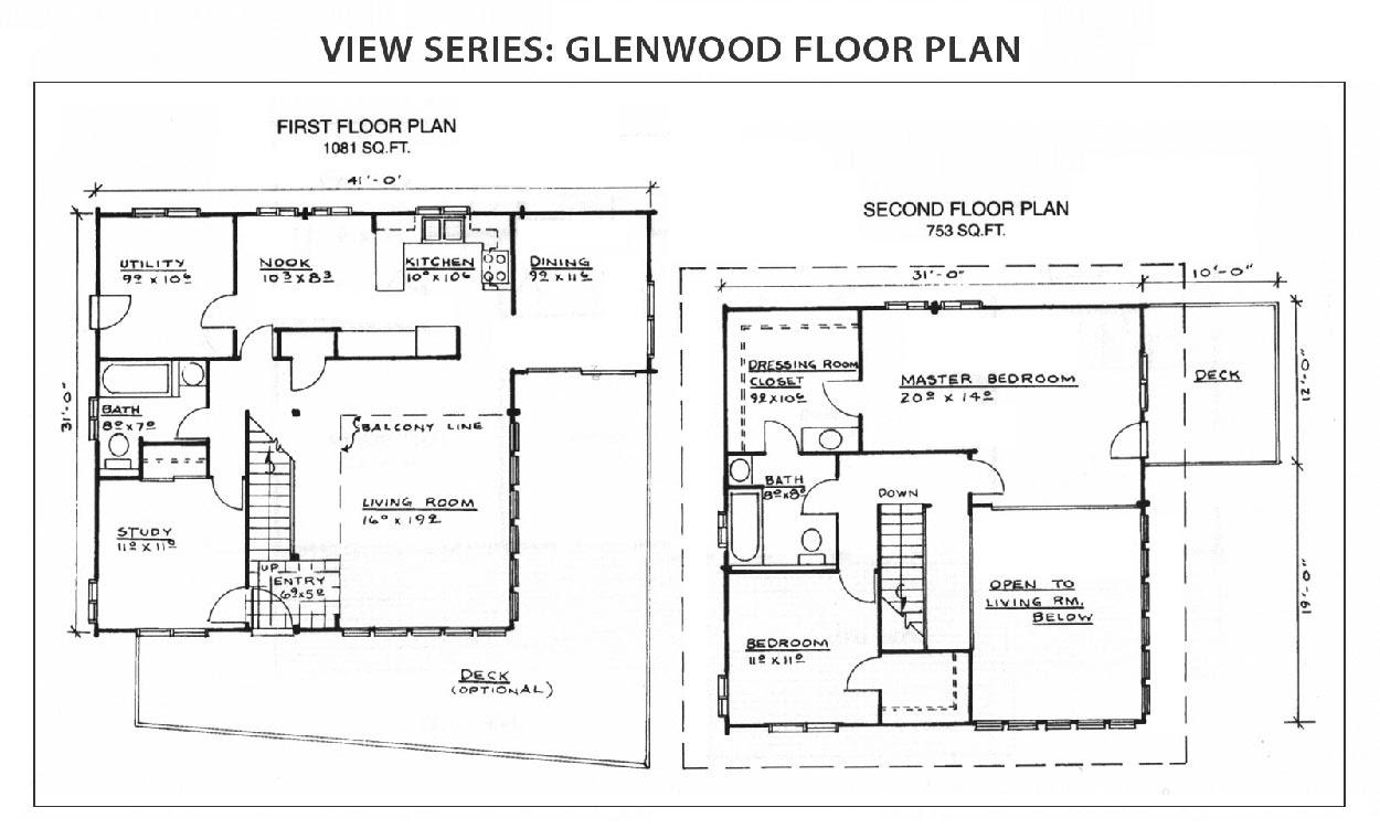Glenwood Floor Plan View Series IHC