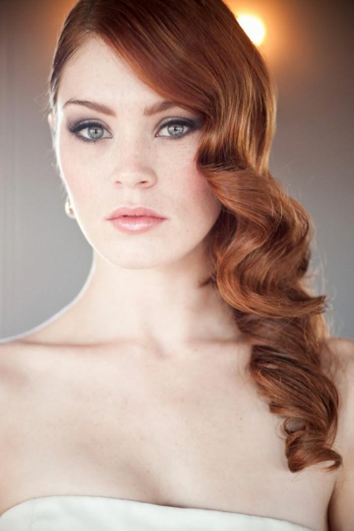 blaue augen rote haare schminken