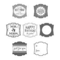 Label Love Wood Stamp Set