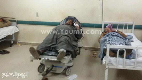 المصابين فى حادث انقلاب قطار ركاب بنى سويف (2)