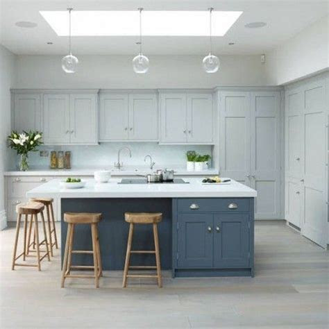 cool blue kitchens ideas  inspiration contrasting