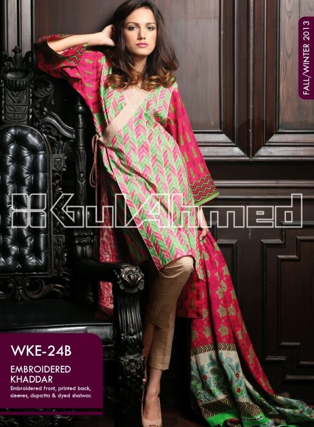 Beautiful-Cute-Girls-New-Fashionable-Dress-Design-by-Gul-Ahmed-Fall-Winter-Collection-2013-14-2