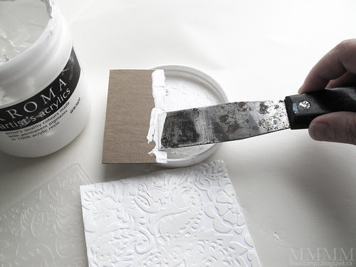 apply a little gesso or paint to a piece of card (or an old plastic gift card)