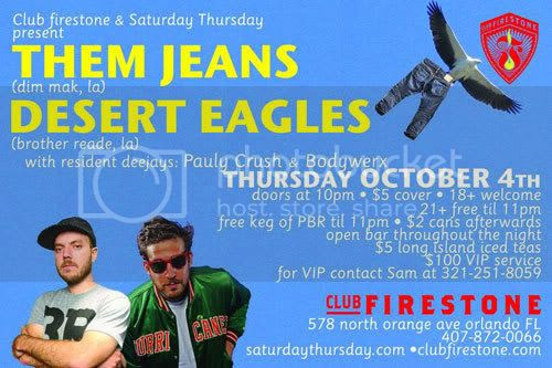 Them Jeans - October 4 in Orlando