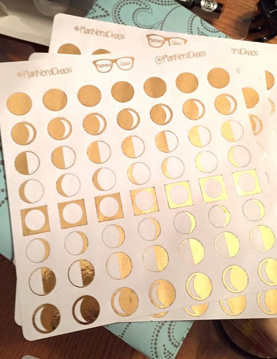 Pagan Planner Stickers- Metallic Moon Phases | Planners, Moon ...
