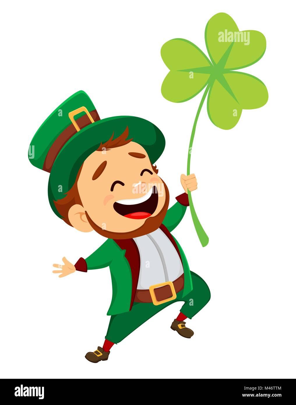 Happy Saint Patricks Day Character With Green Hat Cartoon Funny