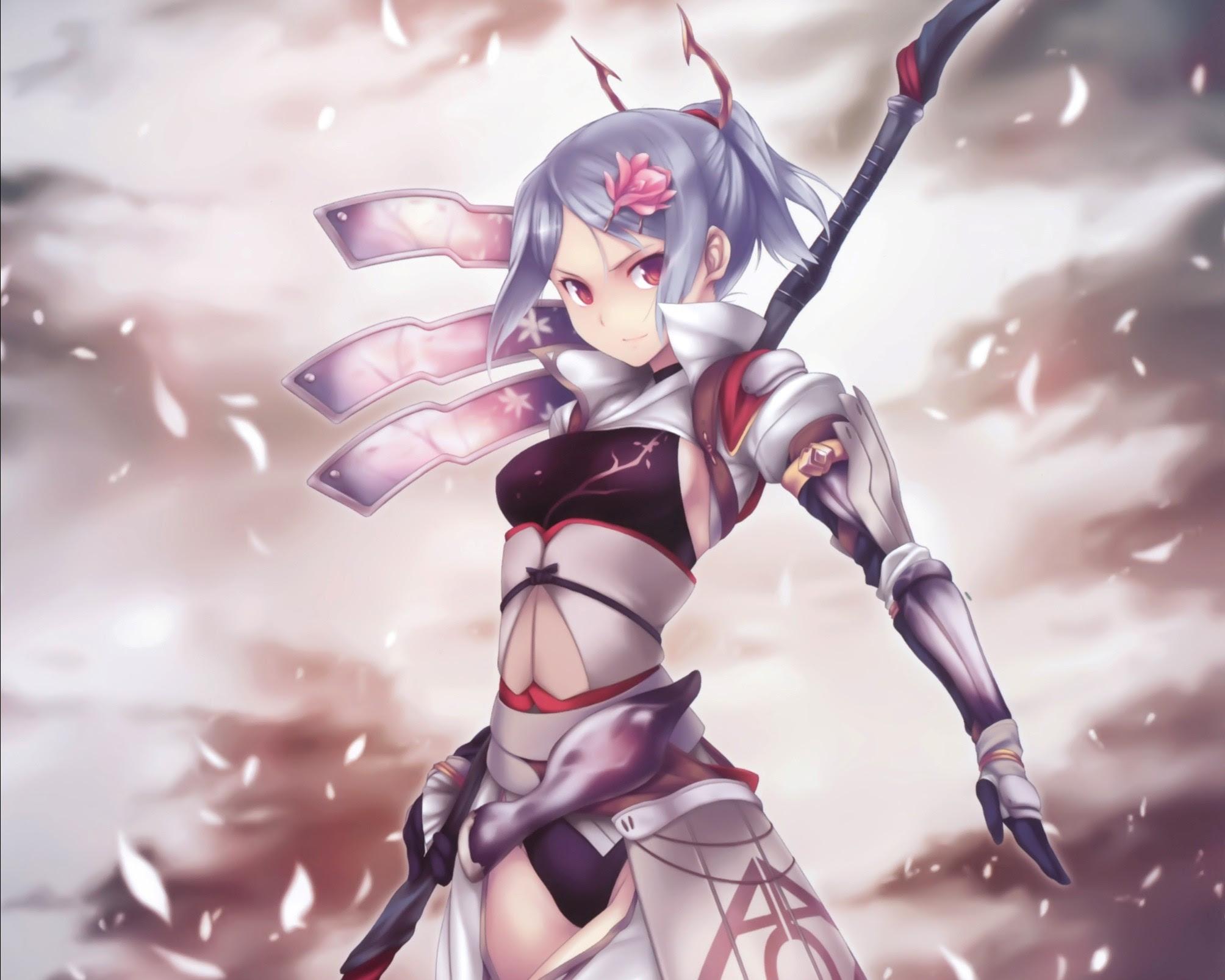 [UPDATE 2020] Warrior Anime Girl Wings - Sans Wallpaper