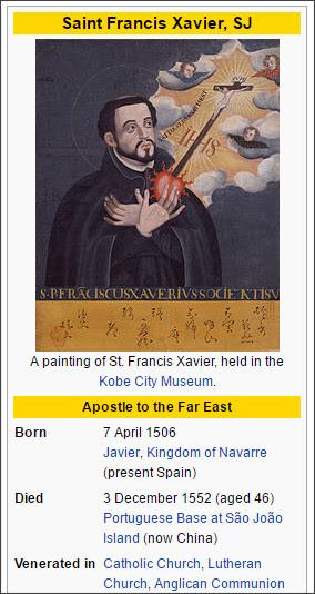 https://en.wikipedia.org/wiki/Francis_Xavier