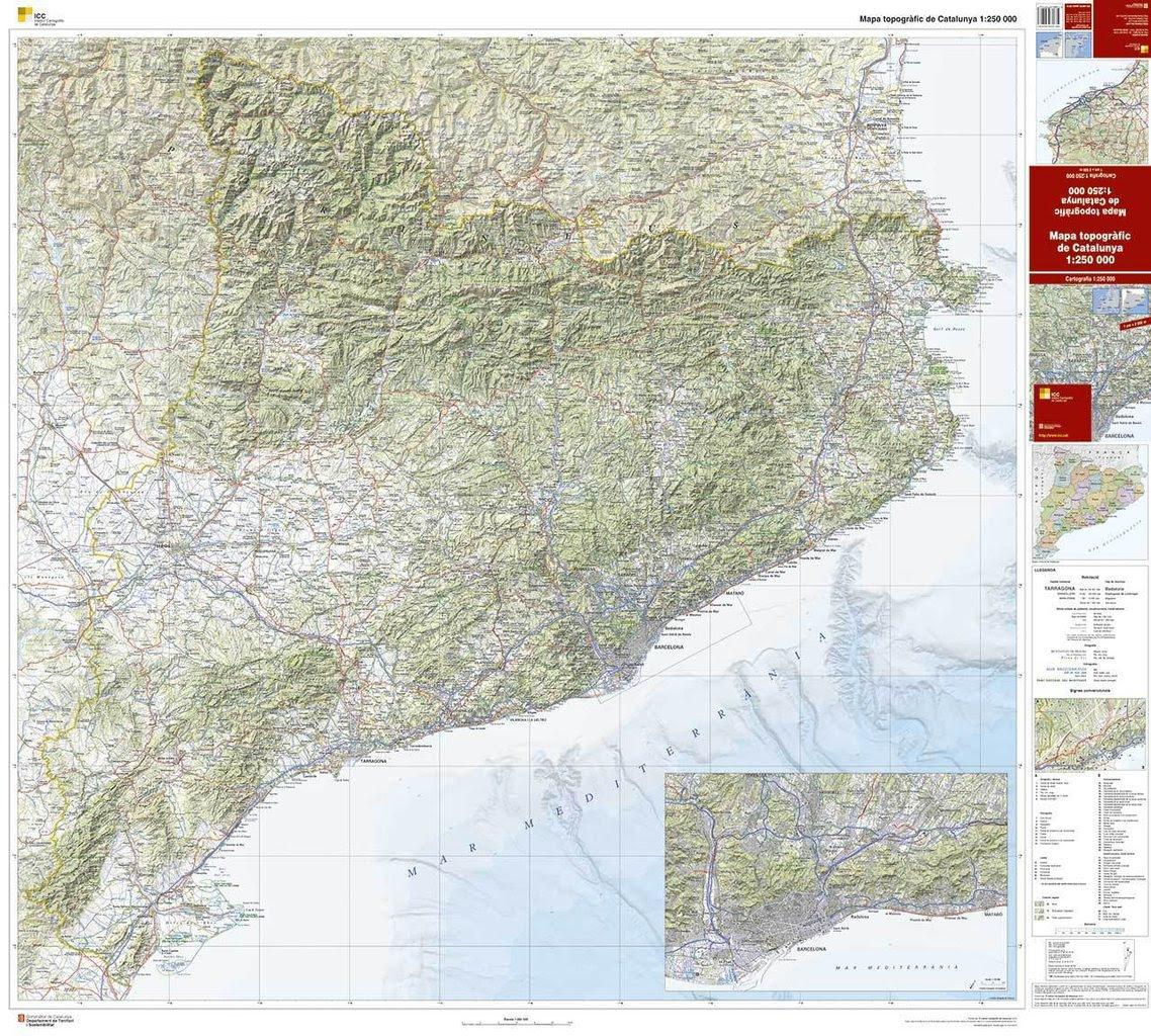 Mapa Topografic De Catalunya.Mapa Cartografic Catalunya Mapa
