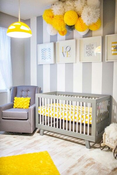 LOVE IT! Change out the yellow for a pretty aqua blue for a baby boy