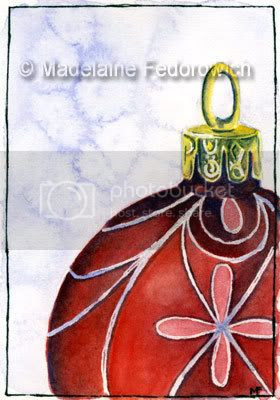 Fancy Christmas Bauble ACEO