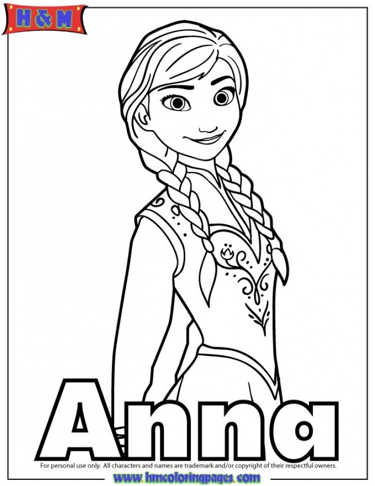 free coloring pages of princess anna from disney frozen 84618