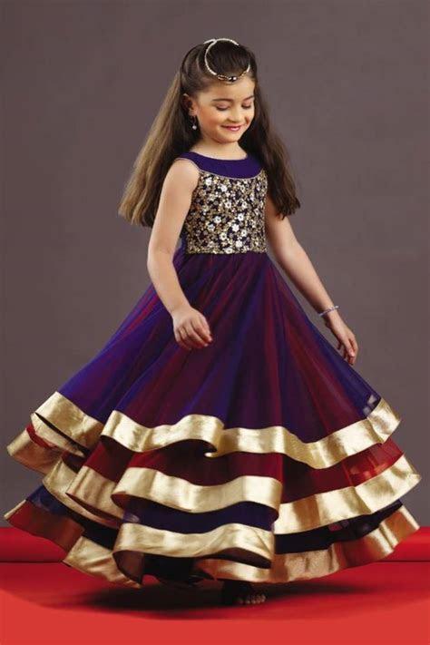 Blue and red plain Soft Net Tafeta kids dress Kids wear