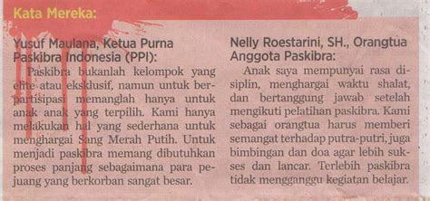 kata  tentang paskibra buletin paskibraka indonesia