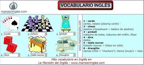 vocabulario en ingles de juegos vocabulario en ingles