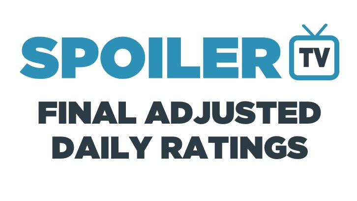 Final Adjusted TV Ratings for Tuesday 3rd October 2017