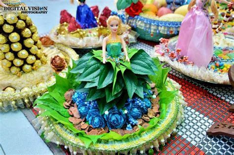 Betel Leaf Barbie Plate Decoration   Plate Decoration