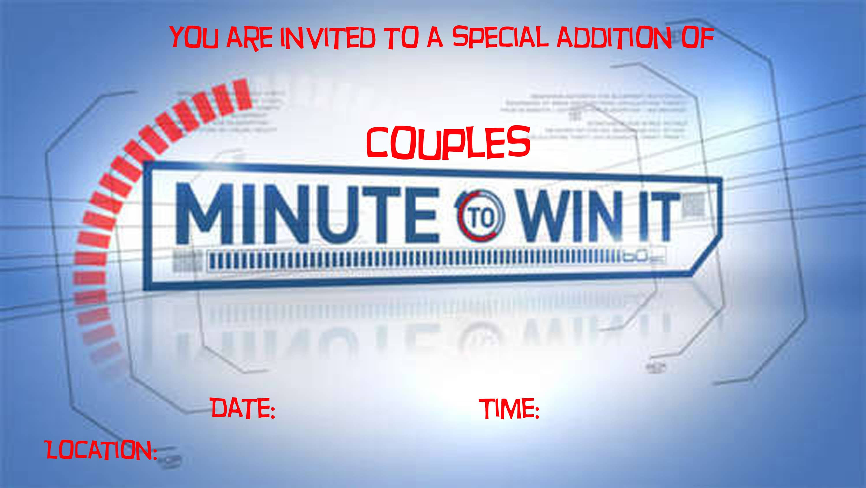 Couples Minute to Win It