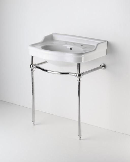 Two Leg Single Washstand - traditional - bathroom vanities and