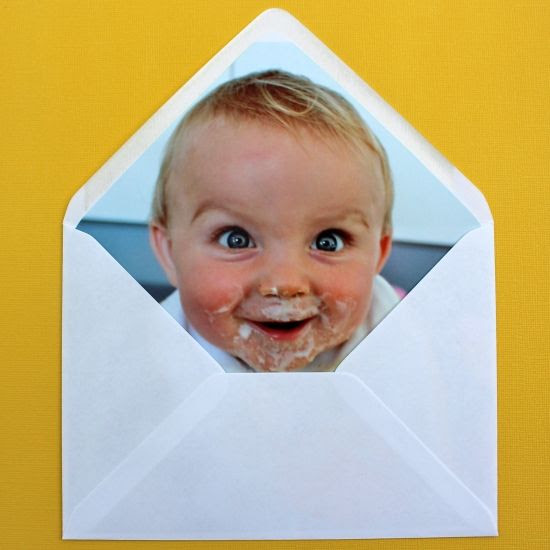 So funny ... DIY photo envelope liner. Pretty ideas, too :)