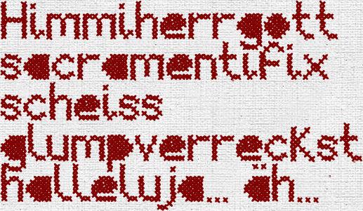 Die Rabenfrau: Downloadlink für den Font Mesh Stitch