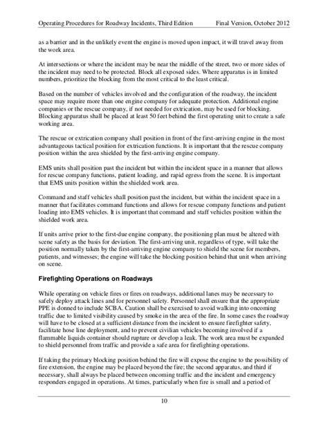 Operating procedures for roadway incidents manual.nova 10 2012