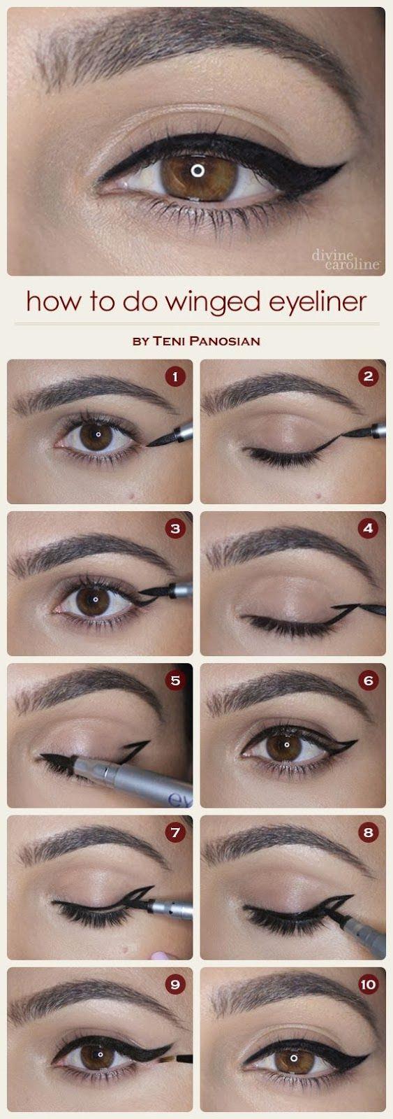 winged eyeliner ~ Only Fashion