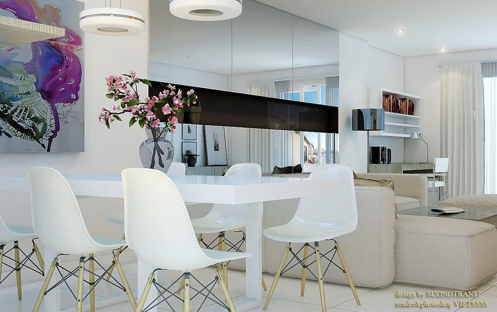 White Dining Room Mirrored Cabinetsinterior Design Ideas