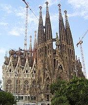 Chrám Sagrada Familia.