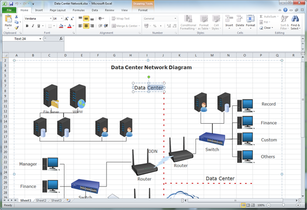 Wiring Diagram Database  How To Create A Network Diagram In Excel