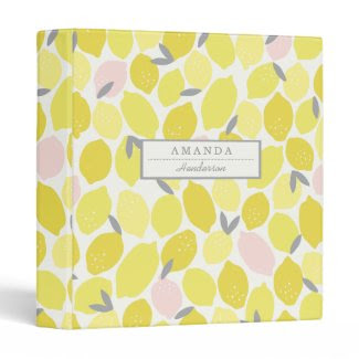 Pink Lemonade by Origami Prints Custom Binder
