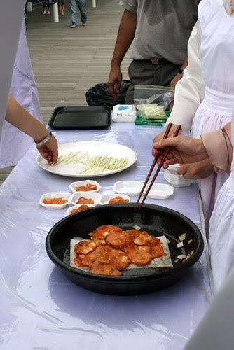Samples of kimchijeon