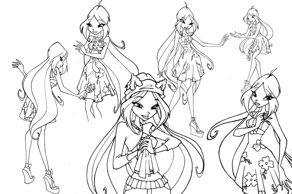 Winx Club Coloring Pages Coloring For Kidscoloring For Kids Az