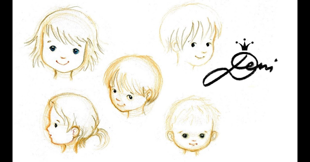 kindergesicht zeichnen