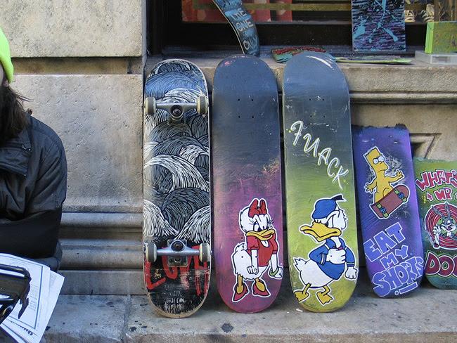 Skateboard artist, SoHo