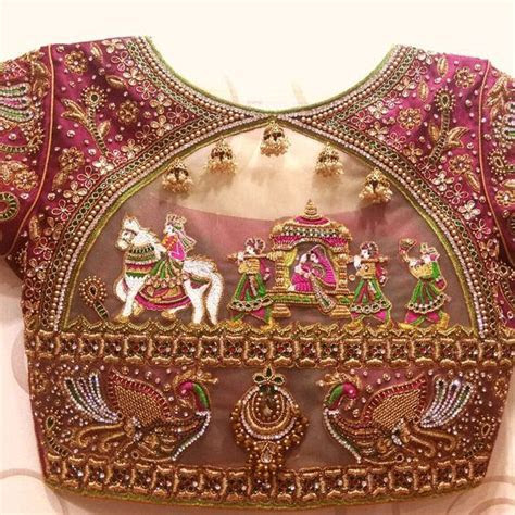 16 Unique beautiful Blouse Designs For Wedding   choli in
