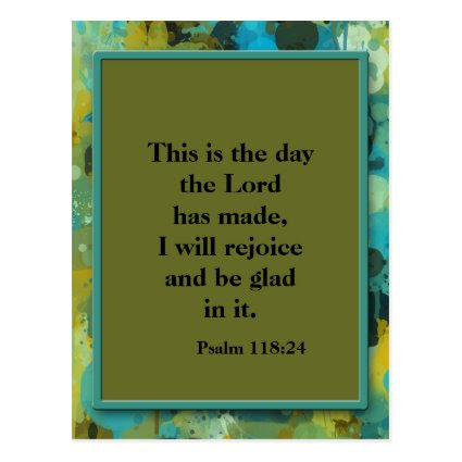 Inspirational Christian Bible Verse Postcard