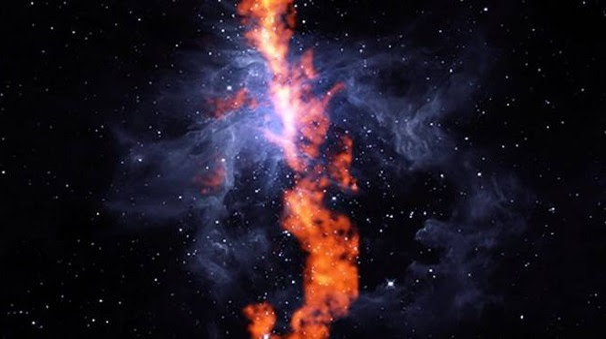 Il lungo filamento di gas nella Nebulosa di Orione