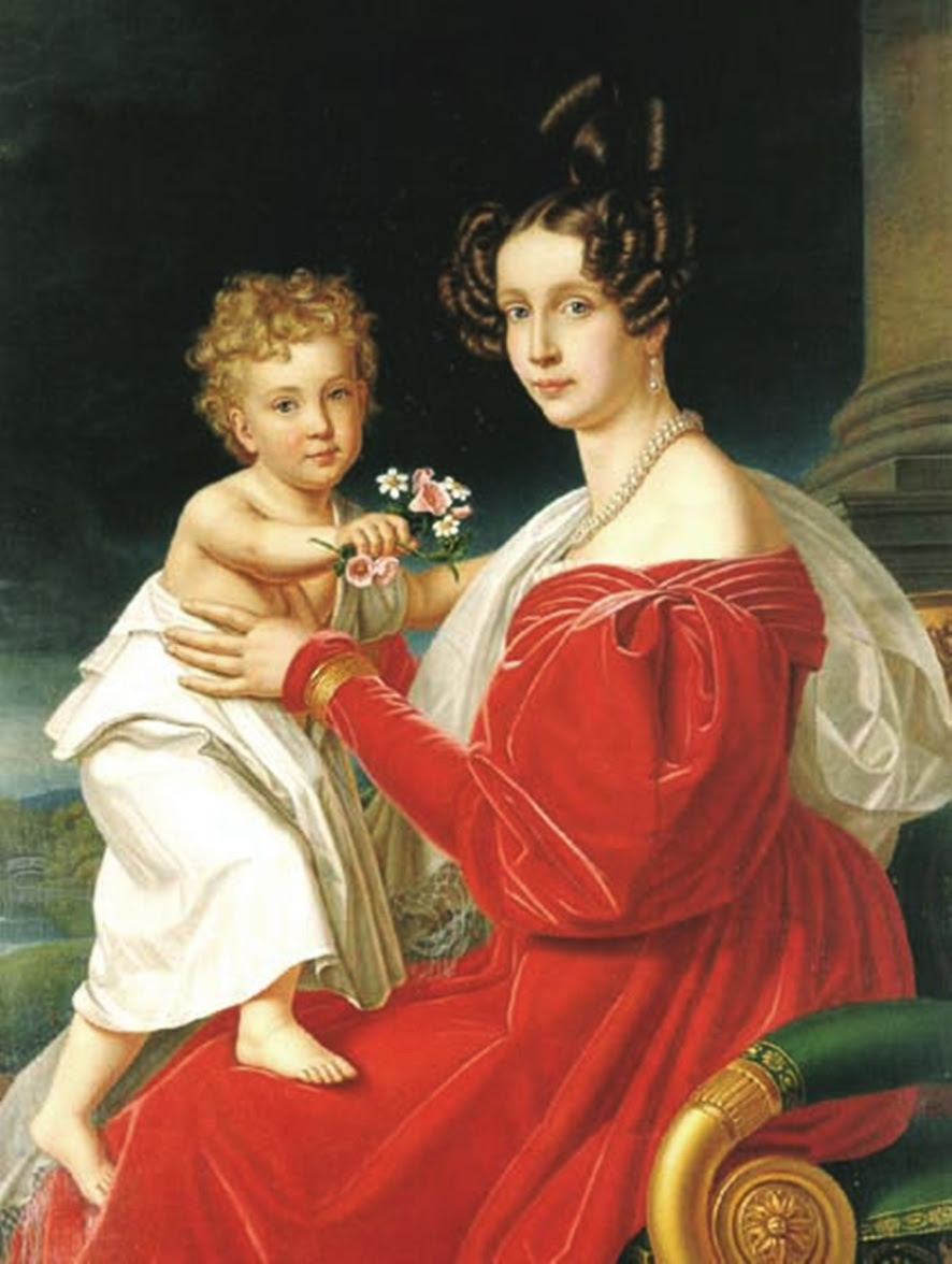 Archduke Franz Josef with his mother