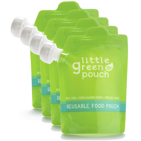 Little Green Pouch - Reusable Food Pouches (4-Pack)