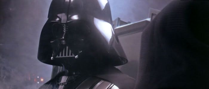 Darth Vader rises in STAR WARS: REVENGE OF THE SITH.