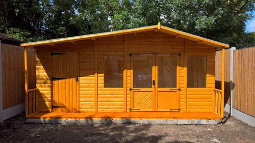 Garden Shed And Summer House Combinations
