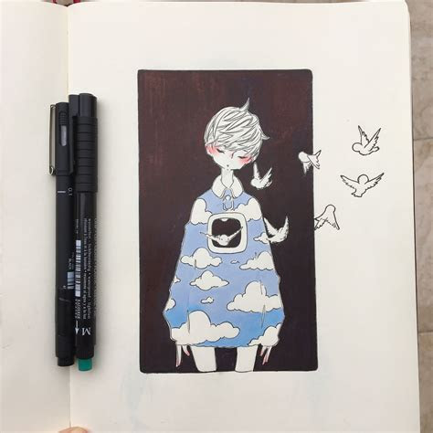 art  ikedda  instagram art   notebook art